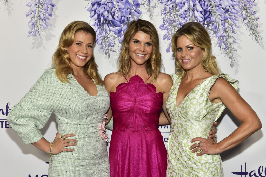 Jodie Sweetin, Lori Loughlin and Candace Cameron Bure. Jodie Sweetin plays Stephanie Tanner in Fuller House.