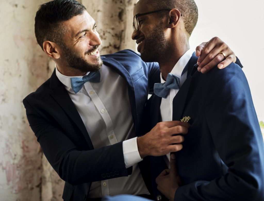 Gay couple married