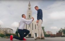 Gay couple Jakub Kwieciński and David Mycek propose in Poland