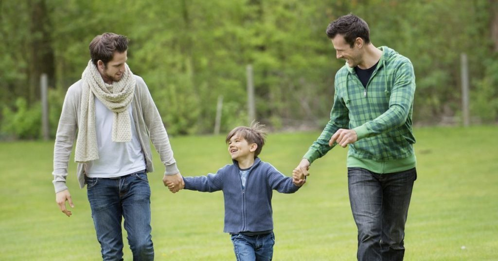 A happy family with gay parents