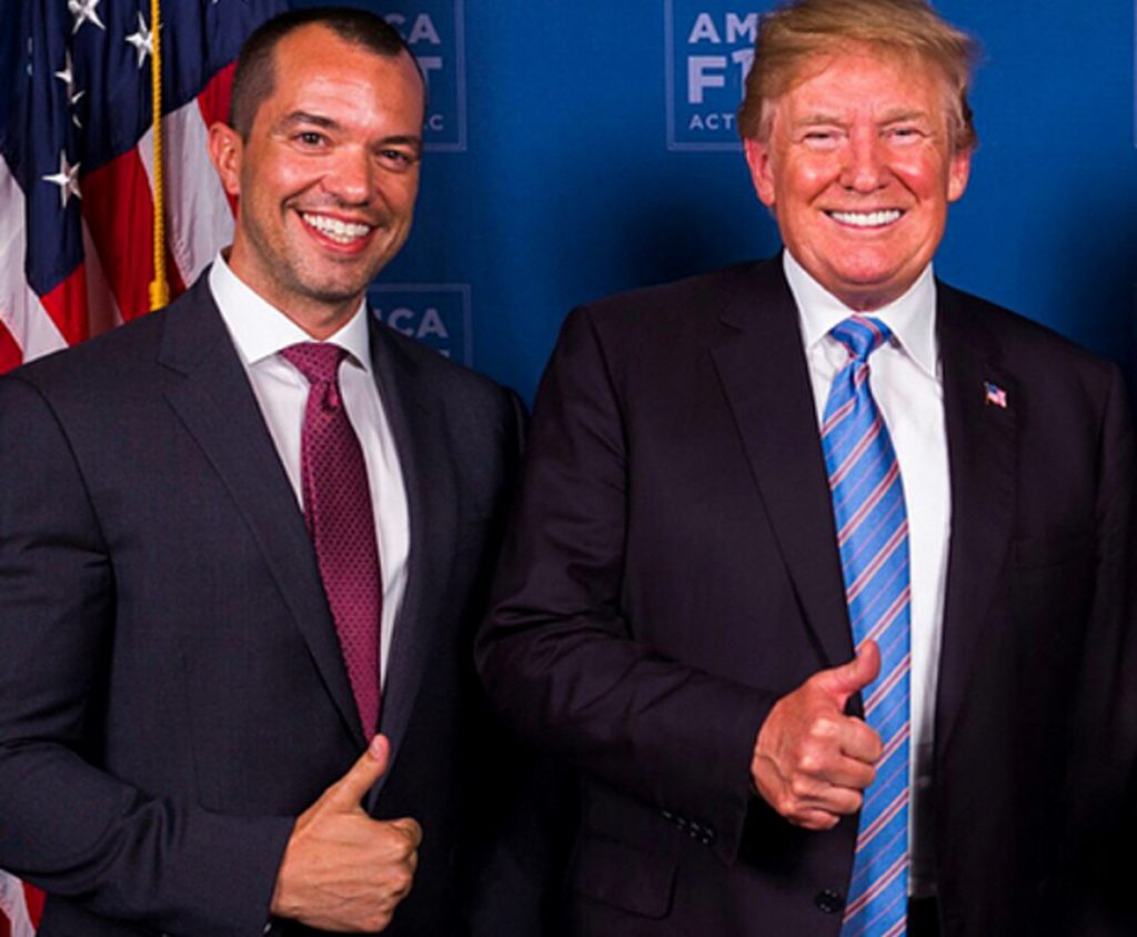 Bryan Eure poses with President Donald Trump