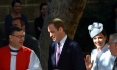 Archbishop Glenn Davies with Prince William and Catherine, the Duchess of Cambridge
