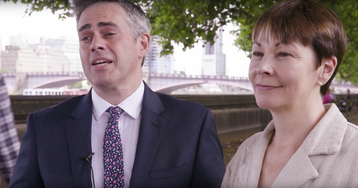 Caroline Lucas and Jonathan Bartley