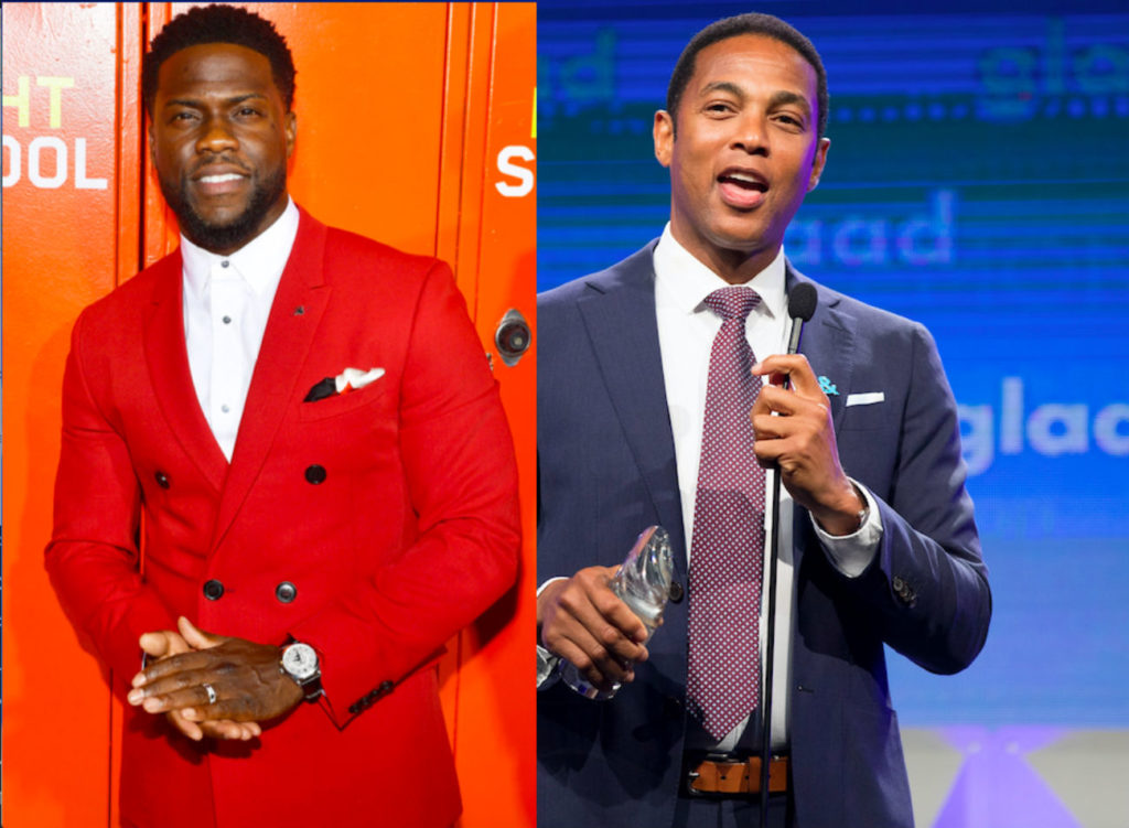 A combined picture of Kevin Hart and Don Lemon