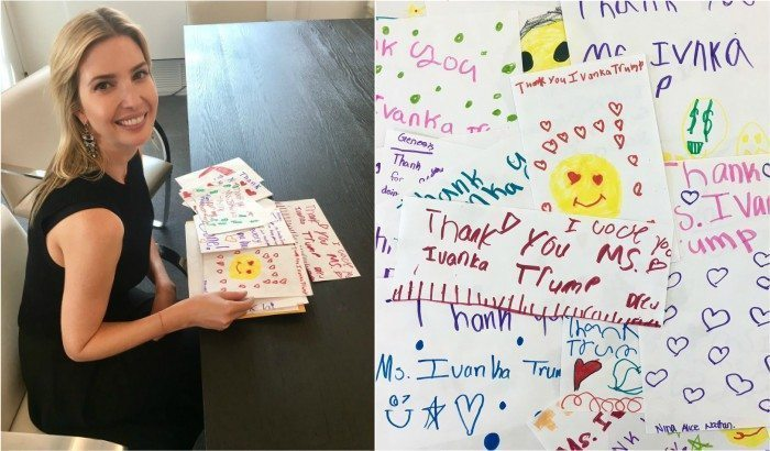 Ivanka Trump with fan mail