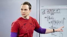 """The Locomotion Reverberation""-- Pictured: Sheldon Cooper (Jim Parsons). Leonard and Wolowitz try to distract Sheldon when he slows the progress of their guidance system. Also, Penny and Amy take Bernadette out for the night, leaving Raj and Stuart to care for baby Halley, on THE BIG BANG THEORY, Thursday, Feb. 9 (8:00-8:31 PM, ET/PT), on the CBS Television Network. Dean Norris returns as Colonel Williams."