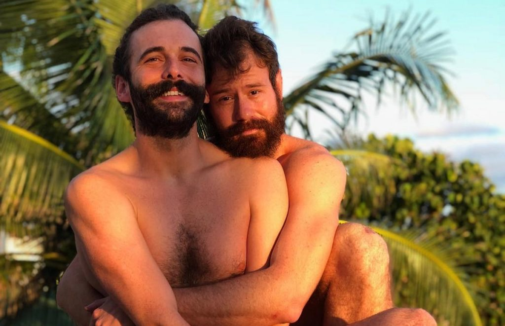 Jonathan Van Ness and Wilco Froneman before the pair split up late in 2018