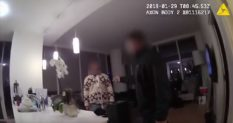 Jussie Smollett is seen with a noose around his neck in the Chicago Police bodycam footage