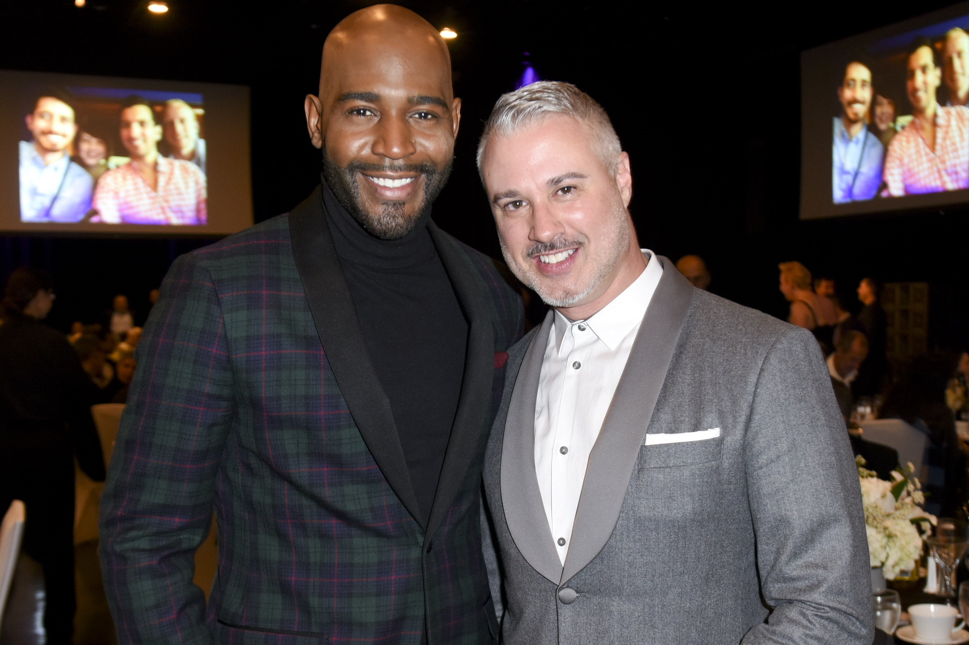 Karamo Brown and Ian Jordan attend Family Equality Council's Impact Awards at The Globe Theatre