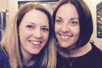 Kezia Dugdale with her new partner Jenny Gilruth