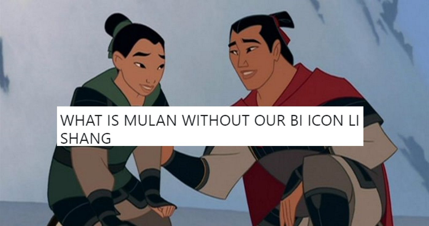 Fans Outraged As Bisexual Disney Icon Removed From New Mulan Film