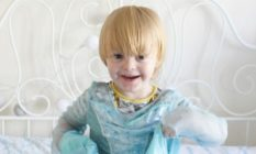 Noah in his Elsa dress