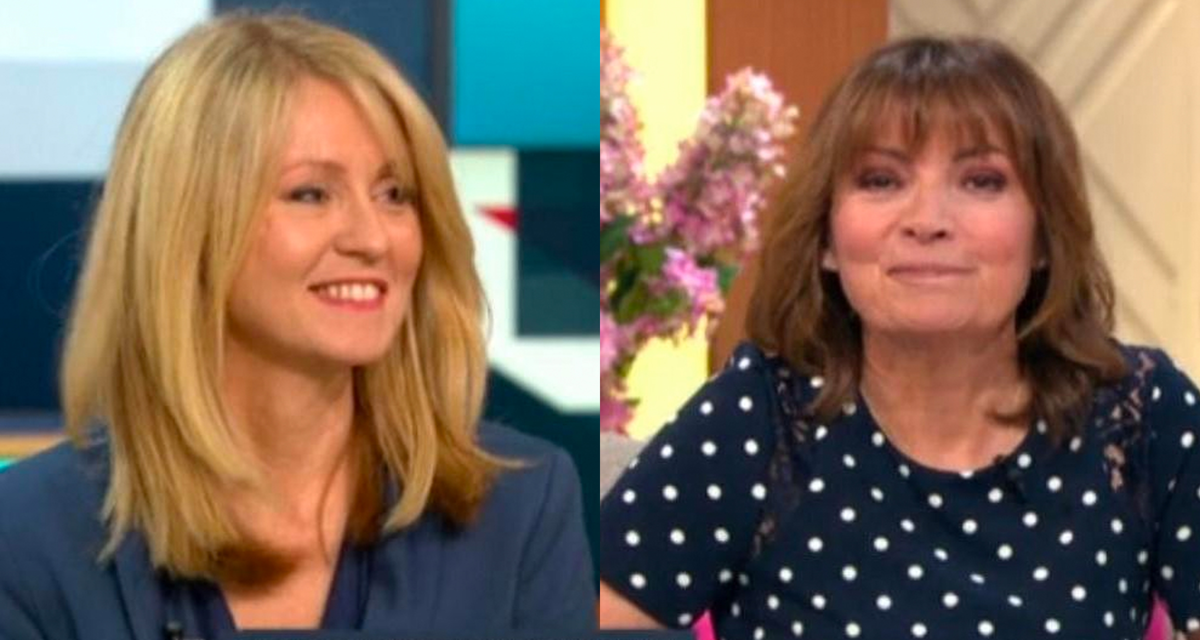 Esther McVey and Lorraine Kelly on Good Morning Britain.