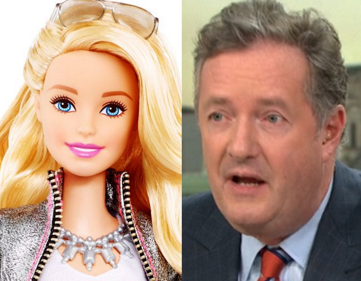 Mattel's Barbie and Good Morning Britain host Piers Morgan