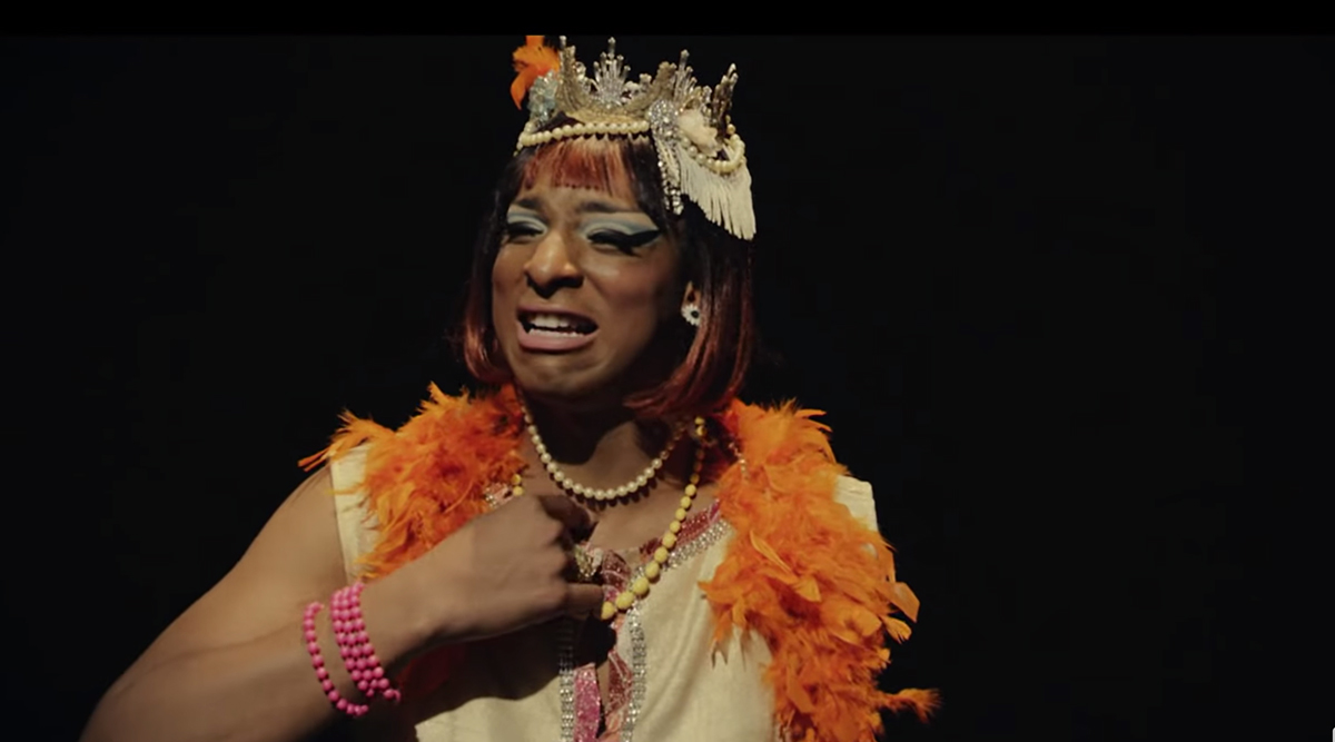An actor plays Marsha P Johnson in the Pride Jubilee video.