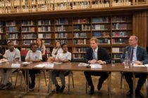 Prince Harry at roundtable discussion on HIV and Aids in London