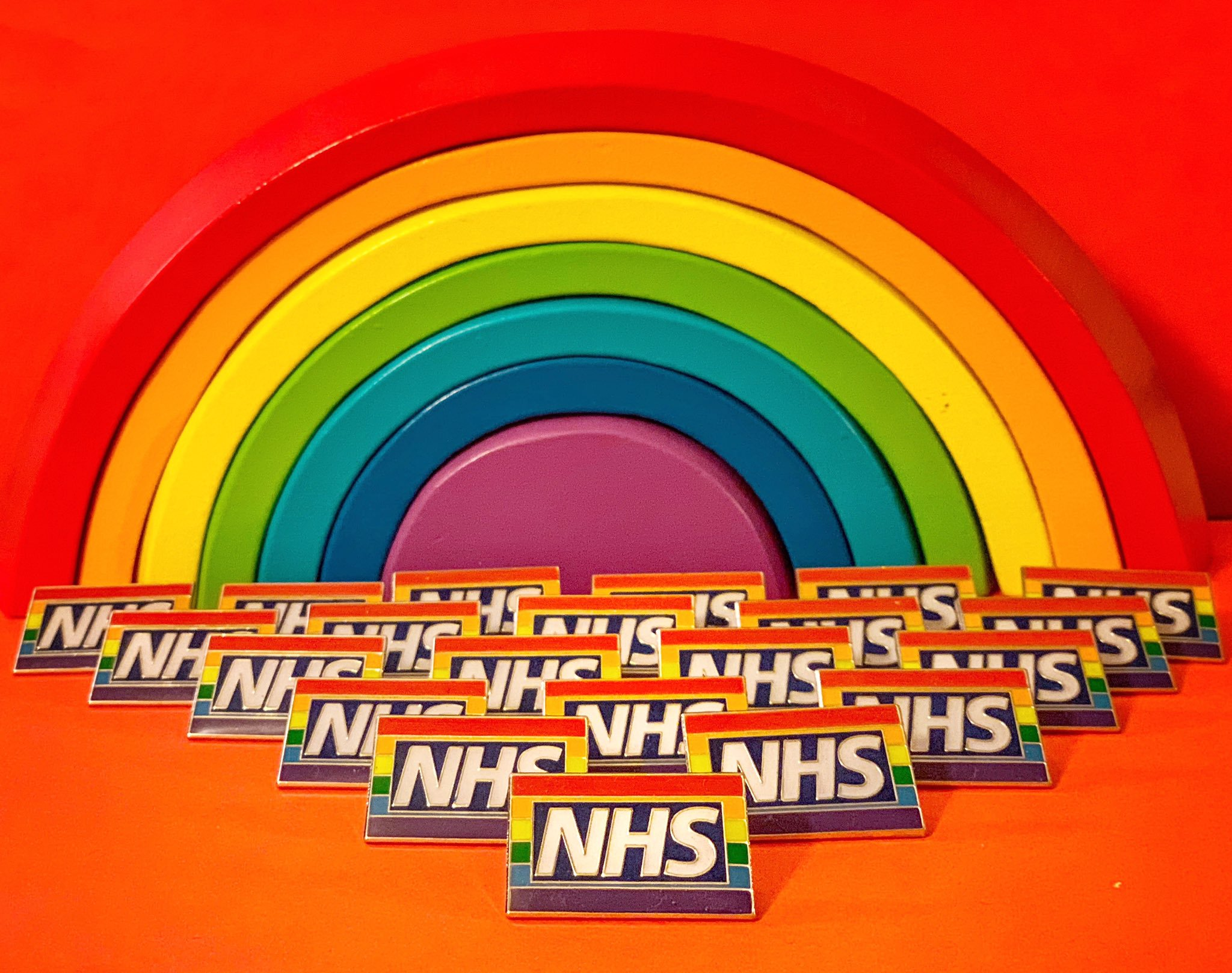 The Rainbow Badges serve to show the hospital is a non-judgemental and inclusive place. (@RainbowNHSBadge/Twitter)