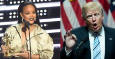 rihanna and trump mtv vmas getty