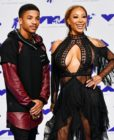 Rose Burgundy and Hazel-E attend the 2017 MTV Video Music Awards