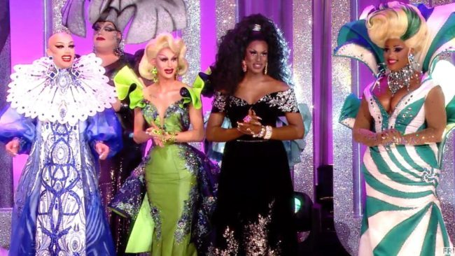 Season finale contestants from left to right: Sasha Velour, Trinity Taylor, Shea Coulee and Miss Peppermint