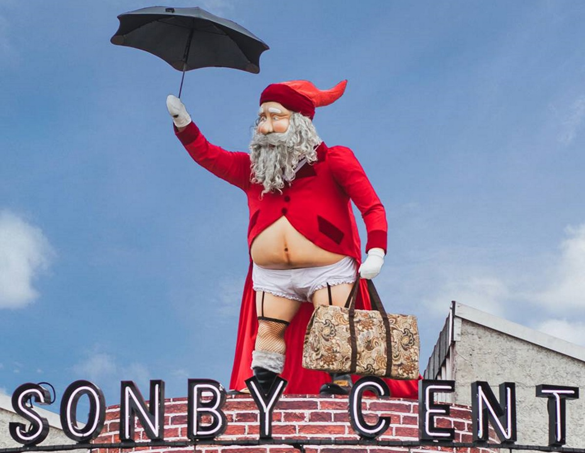Ponsonby Central's gender neutral Santa Claus, which pays tribute to Mary Poppins