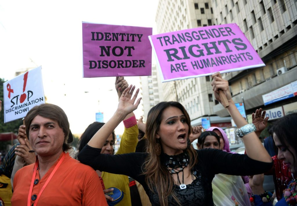 Pakistani transgender protestors (ASIF HASSAN/AFP/Getty Images)