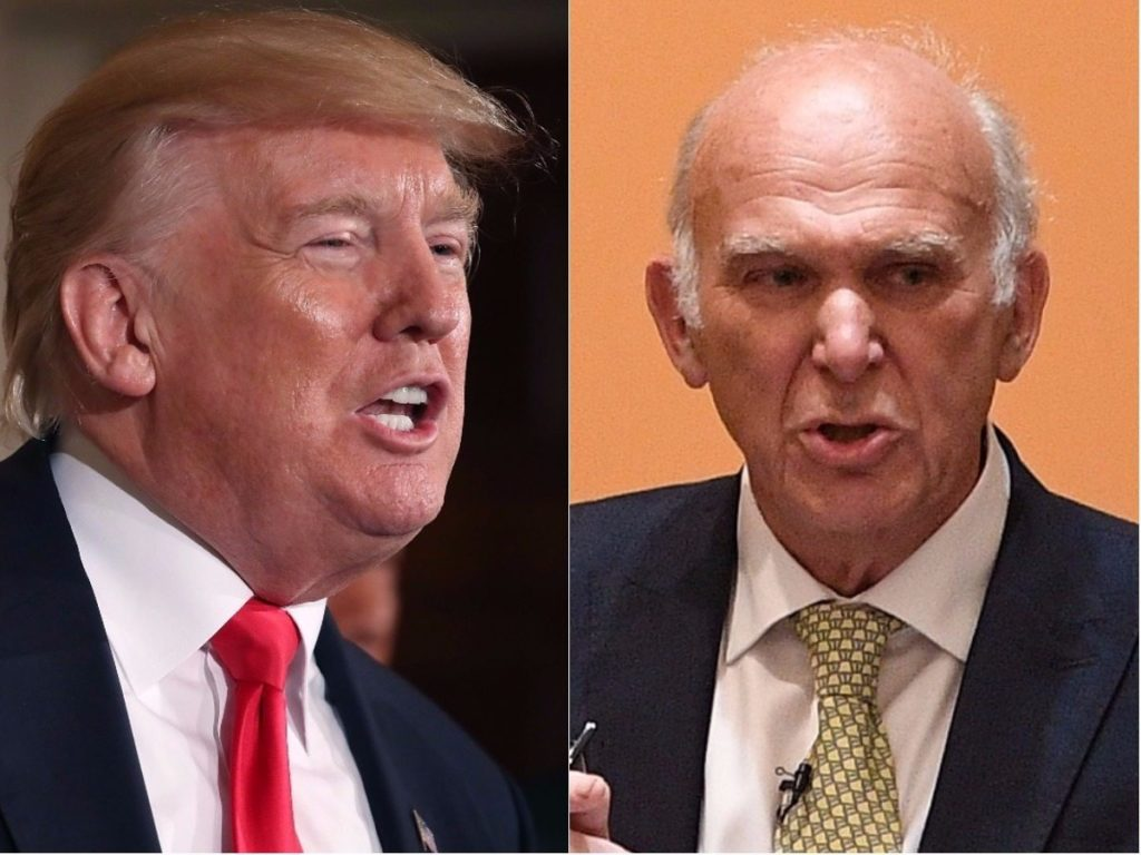 Donald Trump and Vince Cable (Getty Images)