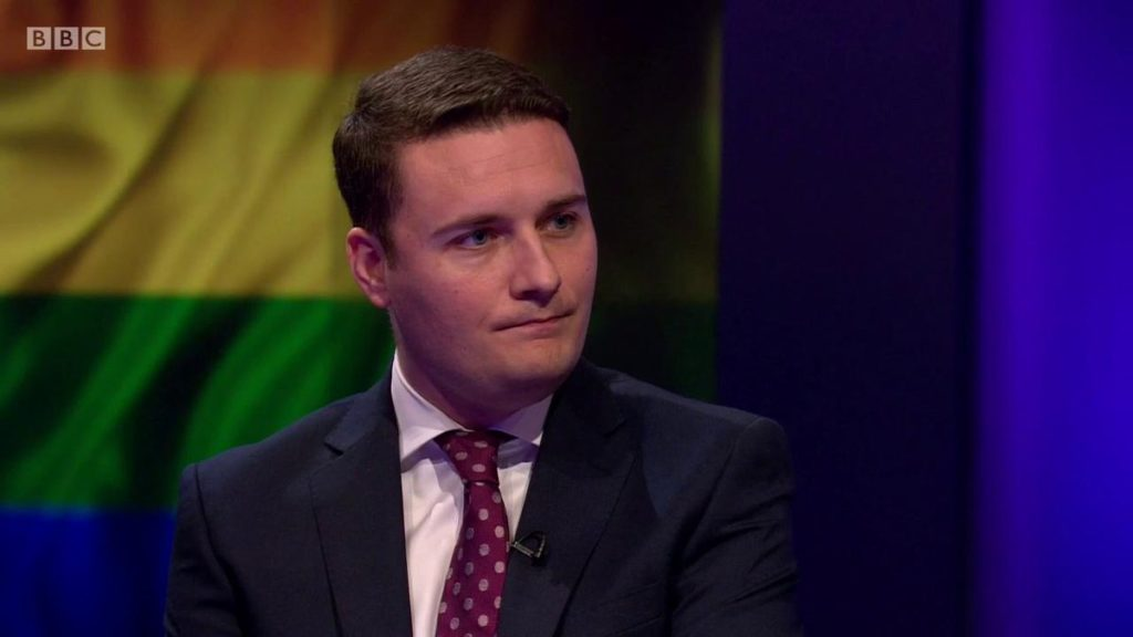 Wes Streeting on Newsnight BBC LGBT protests no outsiders