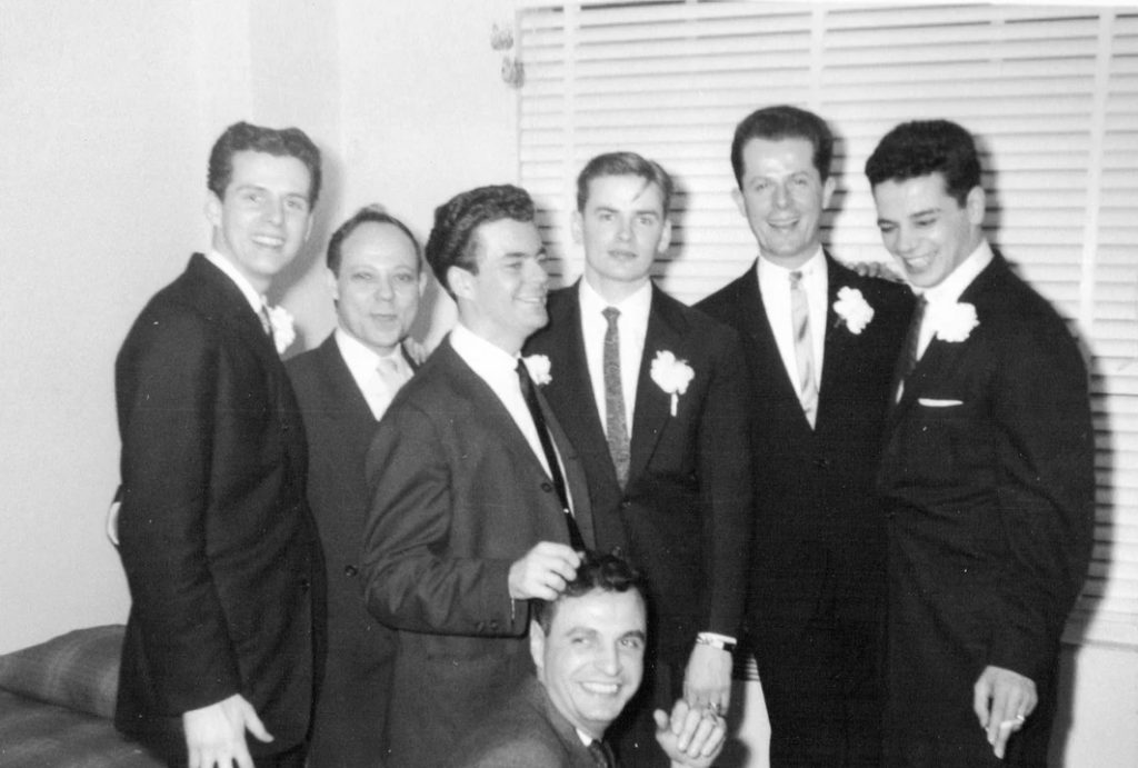 Guests at a 1957 gay wedding