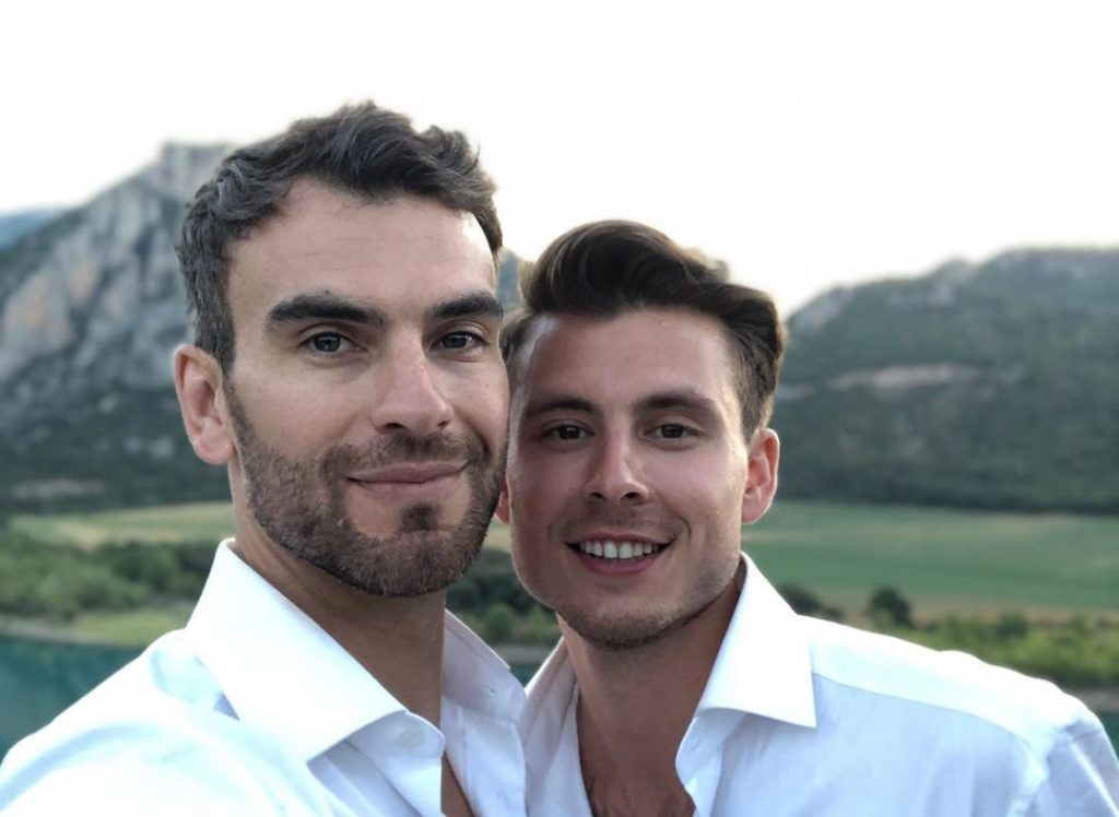 Figure skaters Eric Radford and Luis Fenero get married