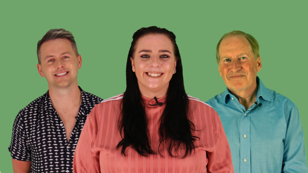 Jack, Amy and Nigel speak to PinkNews about Pride