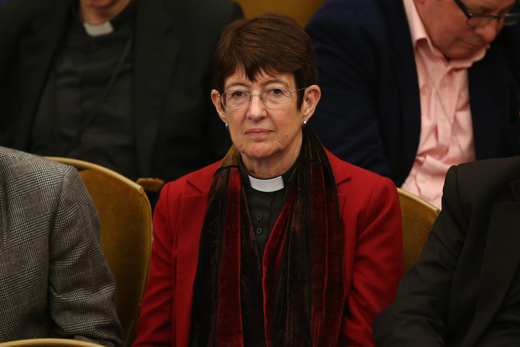Christine Hardman, the Bishop of Newcastle, attends the General Synod on November 25, 2015 in London