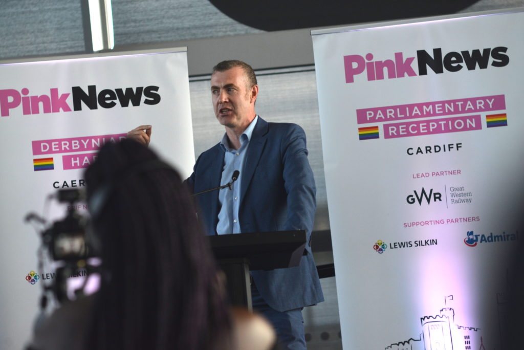 Adam Price at the PinkNews summer reception in Cardiff