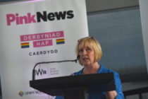 Suzy Davies at the PinkNews summer reception in Cardiff.