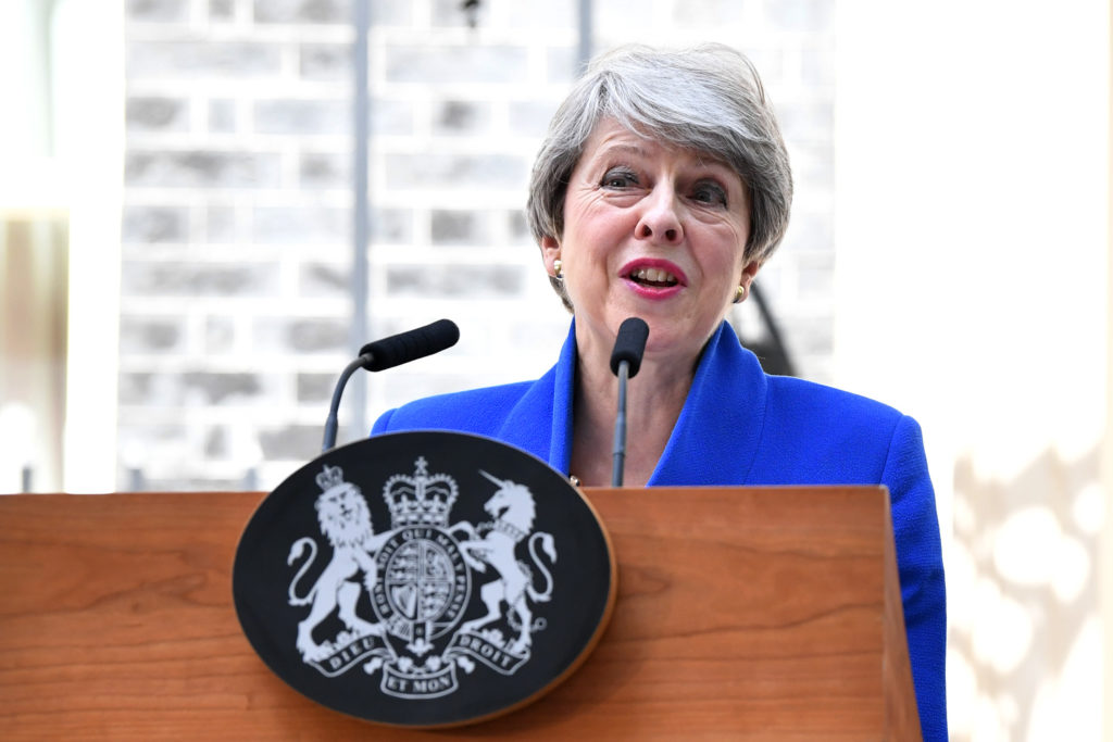 British Prime Minister Theresa May Makes A Final Statement In Downing Street