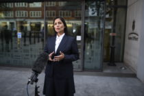 Priti Patel outside the Home Office