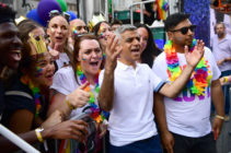 London Mayor Sadiq Khan during the parade at Pride in London 2019