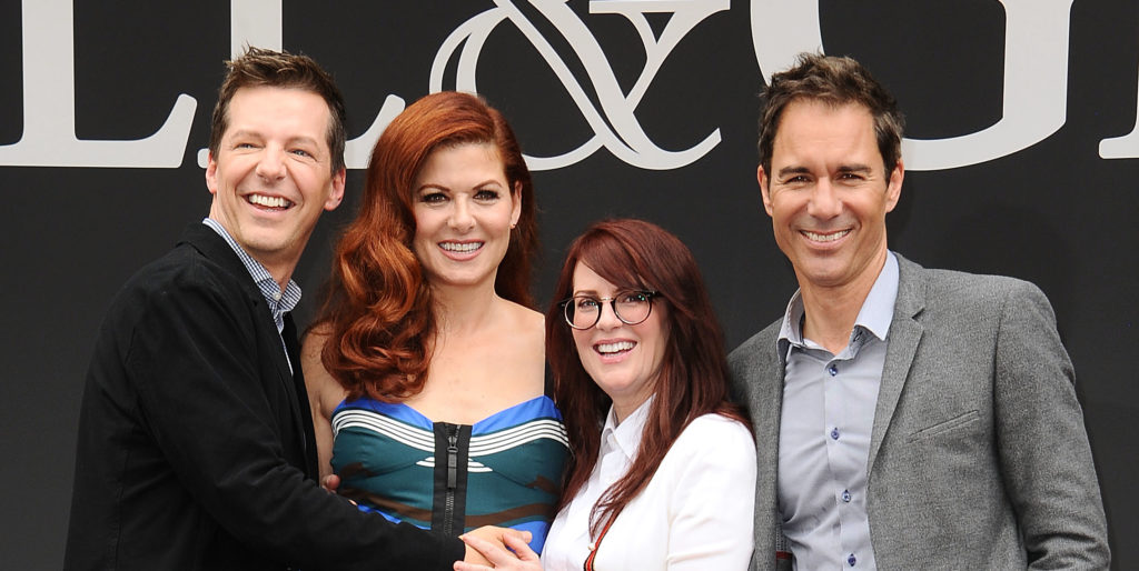 Sean Hayes, Debra Messing, Megan Mullally and Eric McCormack of Will & Grace.