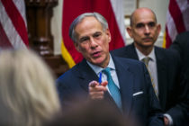 LGBT Texas Governor Greg Abbott at the state capital on May 24, 2018 in Austin, Texas.