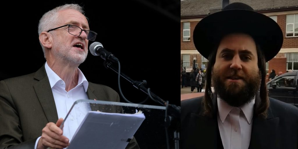 Labour leader Jeremy Corbyn is under fire over the meeting with Shraga Stern