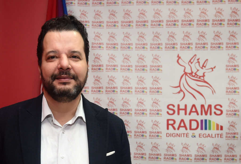 Tunisian lawyer Mounir Baatour, president of Association Shams, which supports the depenalization of homosexuality in Tunisia