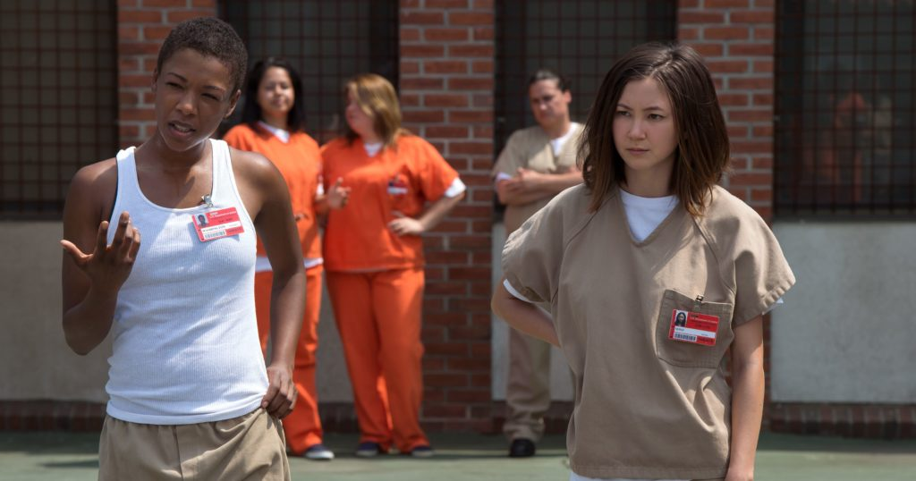 Soso and Poussey in the yard at Litchfield (Netflix/Orange Is the New Black)
