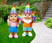 Asda Pride-themed garden gnomes