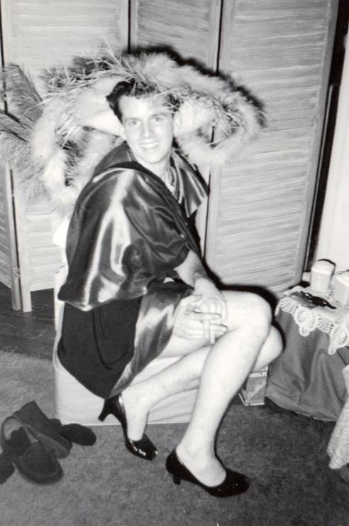 A man in drag in 1957