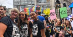 Little Mix stars Jade Thirlwall and Leigh-Anne Pinnock at Pride in London