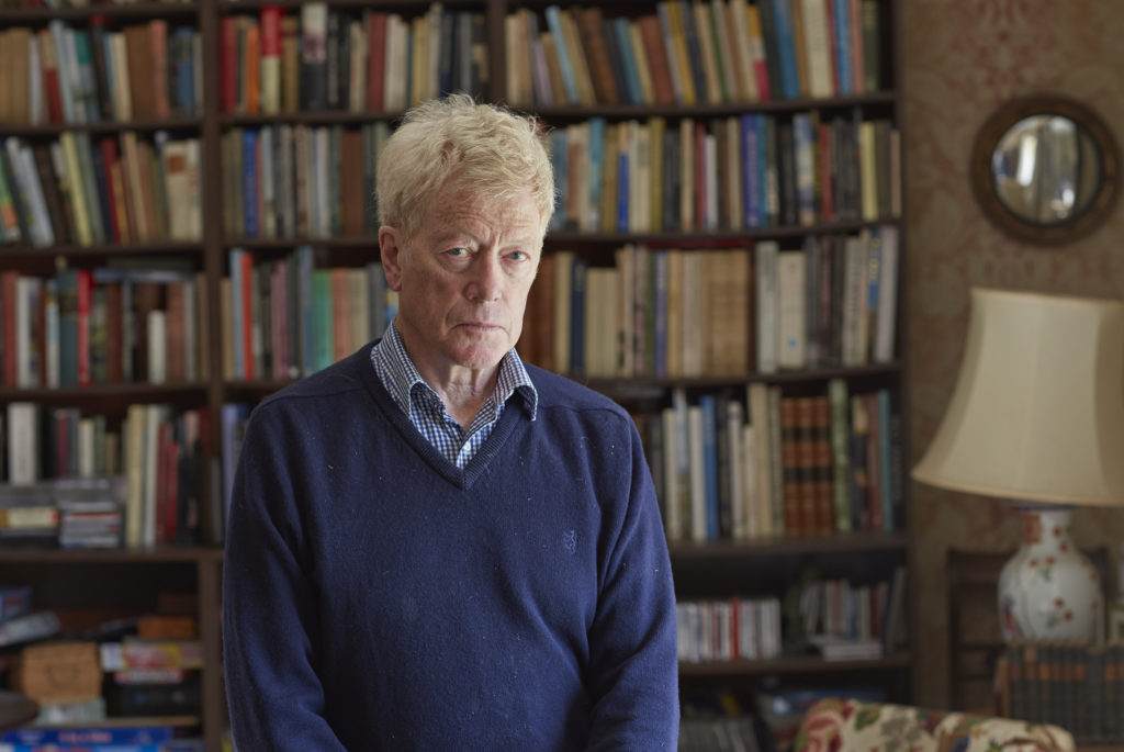 Roger Scruton poses at his home on September 28, 2015 in United Kingdom.