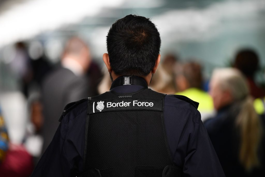 A UK Border Force official