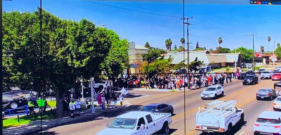 The Straight Pride rally and counter-protesters outside Planned Parenthood in Modesto, California.