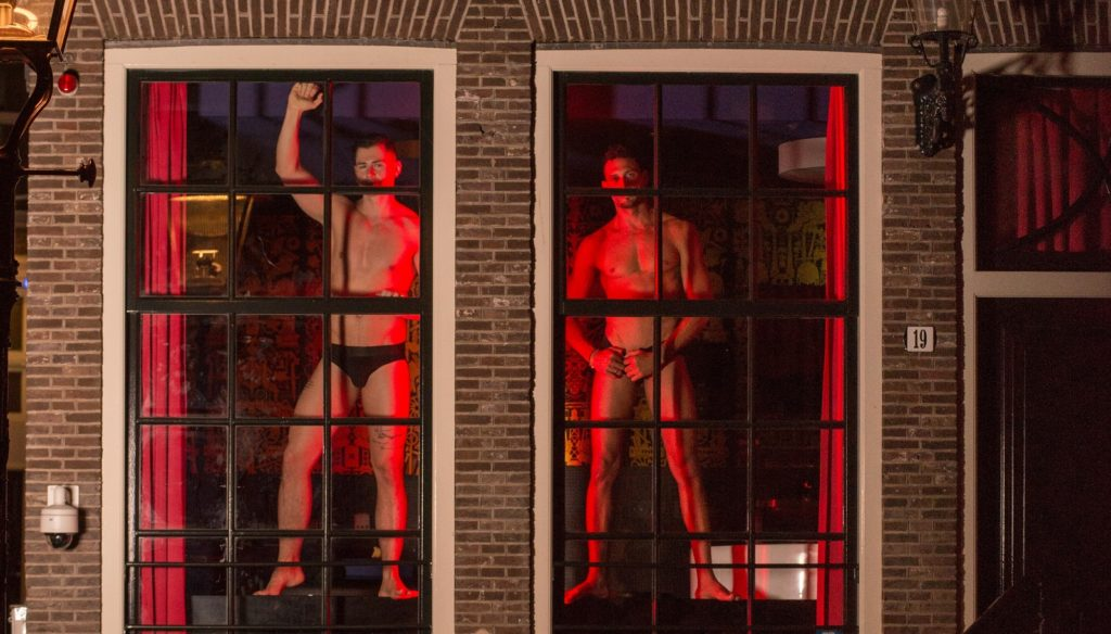 Male sex workers are taking over the windows for Amsterdam Pride