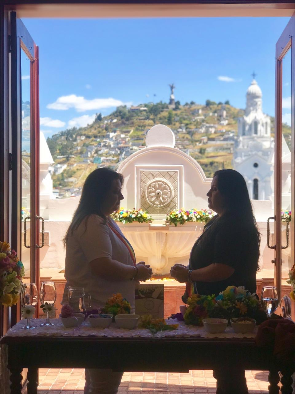 Ecuador same-sex couple activists get married